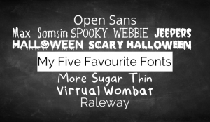 My five favourite fonts feature